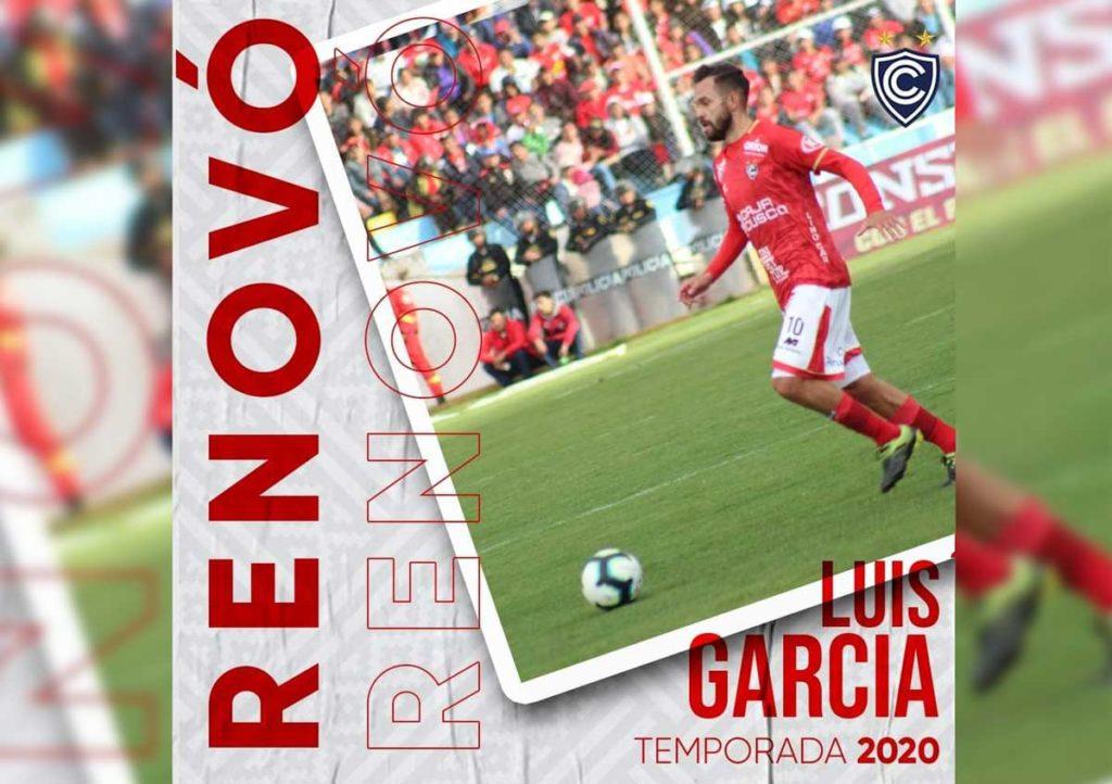 Cienciano confirmó la renovación del volante Luis García