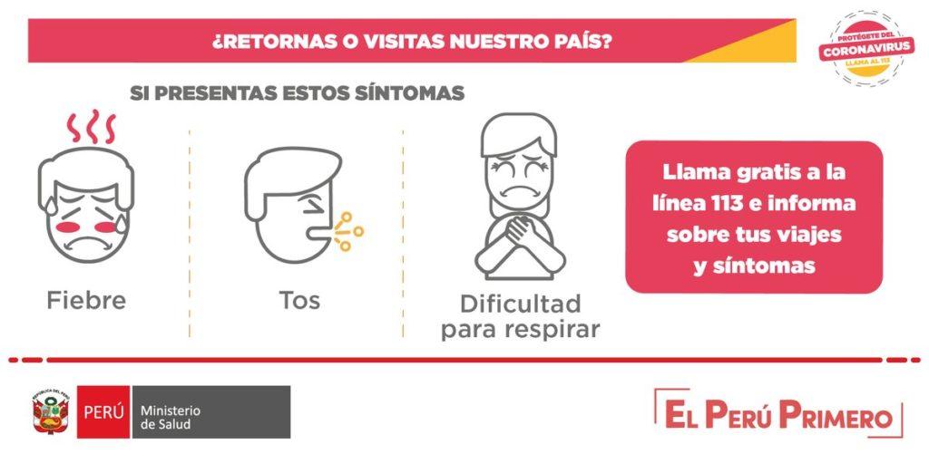 Sintomas del Coronavirus - Peru