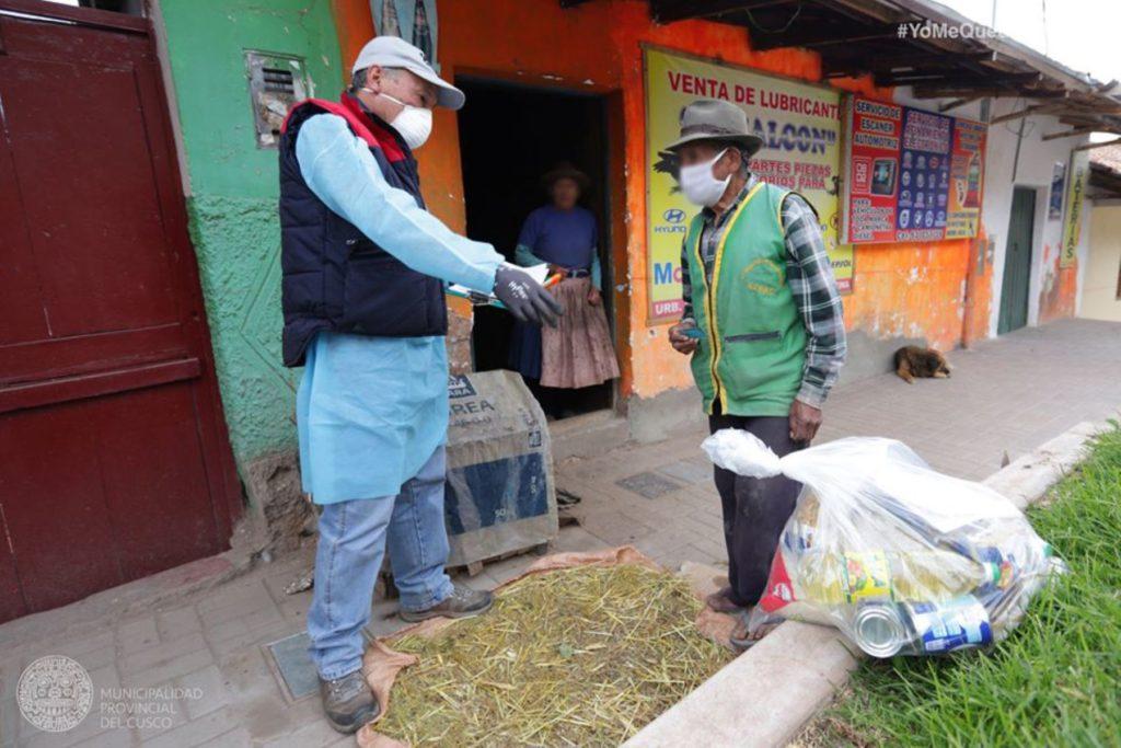 Reparto de Alimentos en Cusco