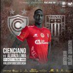 Cienciano vs Alianza Lima, fecha 19, hora y canal para ver EN DIRECTO la Liga 1