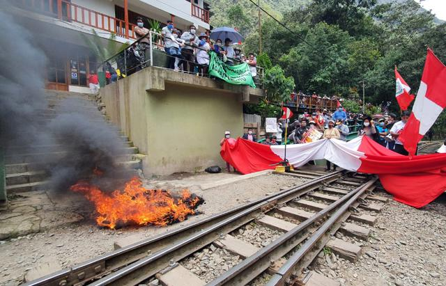 Huelga en Machu Picchu - protestas contra Peru Rail e Inca Rail