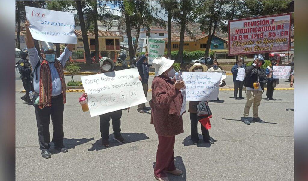 Protestas por Quechua Chanka en Cusco