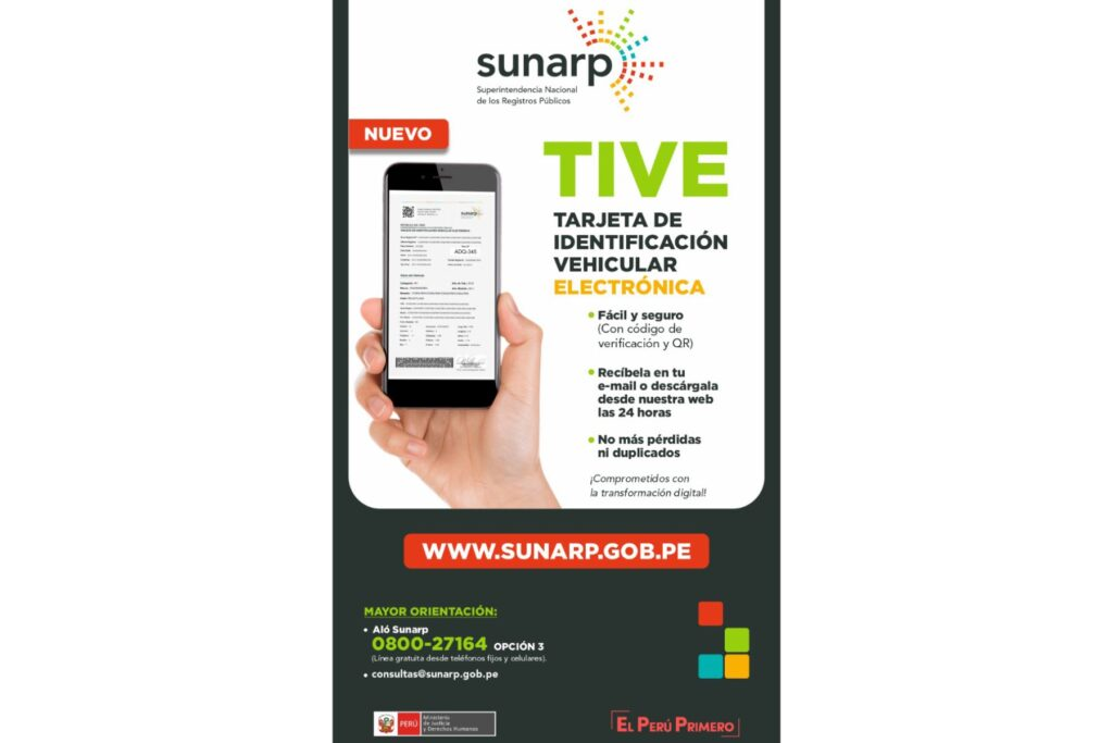 Tarjeta de identificación vehicular Sunarp